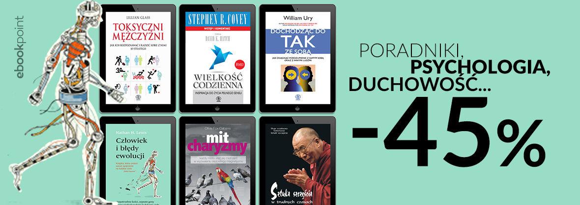 Promocja na ebooki Poradniki, psychologia, duchowość... / -45%