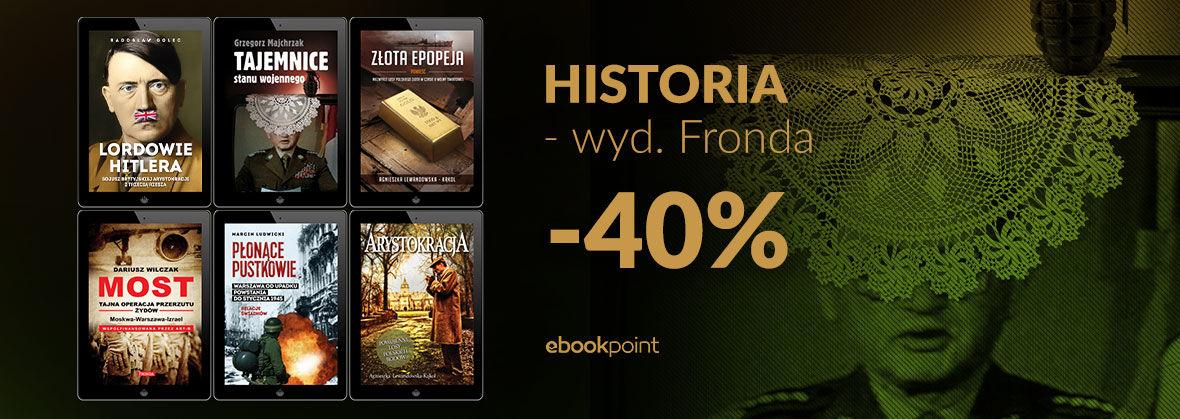 Promocja na ebooki HISTORIA [wyd. Fronda]