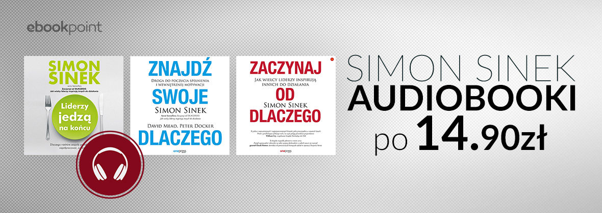 Promocja na ebooki SIMON SINEK [Audiobooki po 14,90zł]