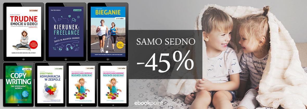 Promocja na ebooki SAMO SEDNO [-45%]