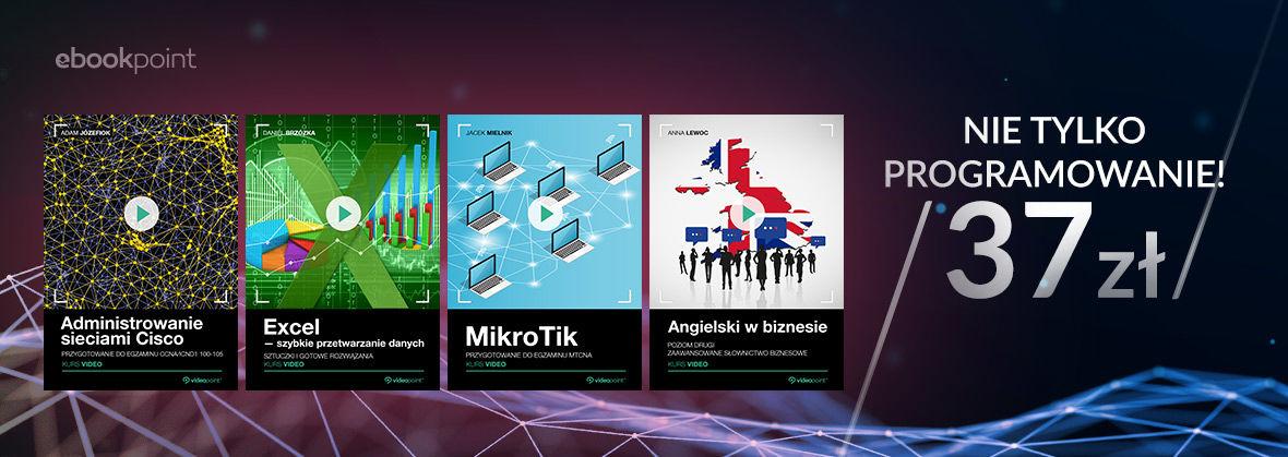 Promocja Promocja na ebooki Videokursy | Nie tylko programowanie! [37.00 zł]