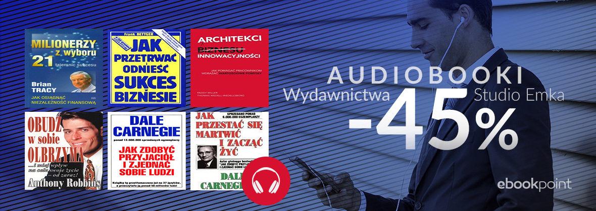 Promocja na ebooki Audiobooki Wydawnictwa Studio Emka / -45%