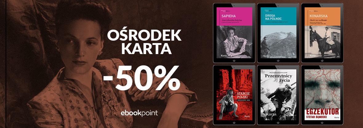 Promocja na ebooki Ośrodek Karta [-50%]