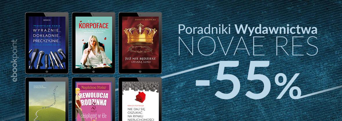 Promocja na ebooki Poradniki Wydawnictwa Novae Res [-55%]