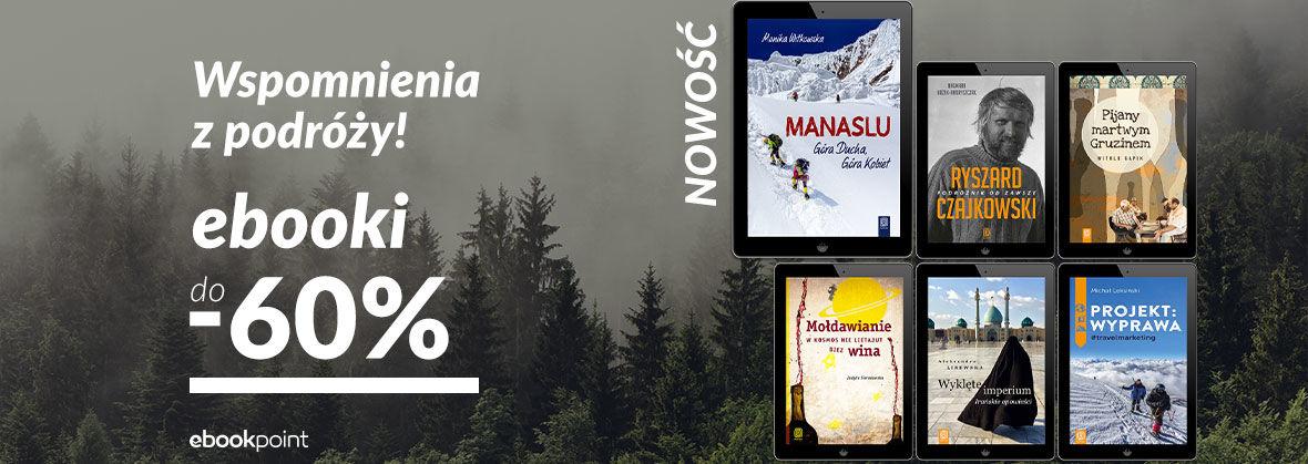 Promocja na ebooki Książki podróżnicze [do -60%]