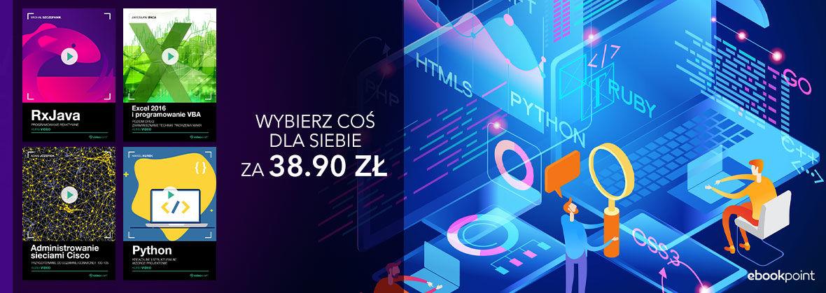 Promocja na ebooki Videokursy | Wybierz coś dla siebie za 38.90 zł