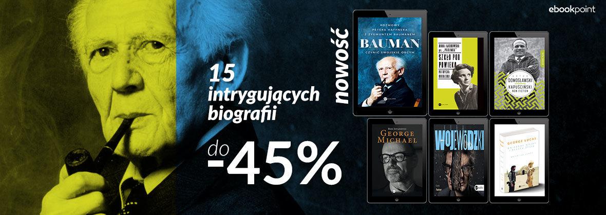 Promocja Promocja na ebooki 15 intrygujących biografii [do -45%]