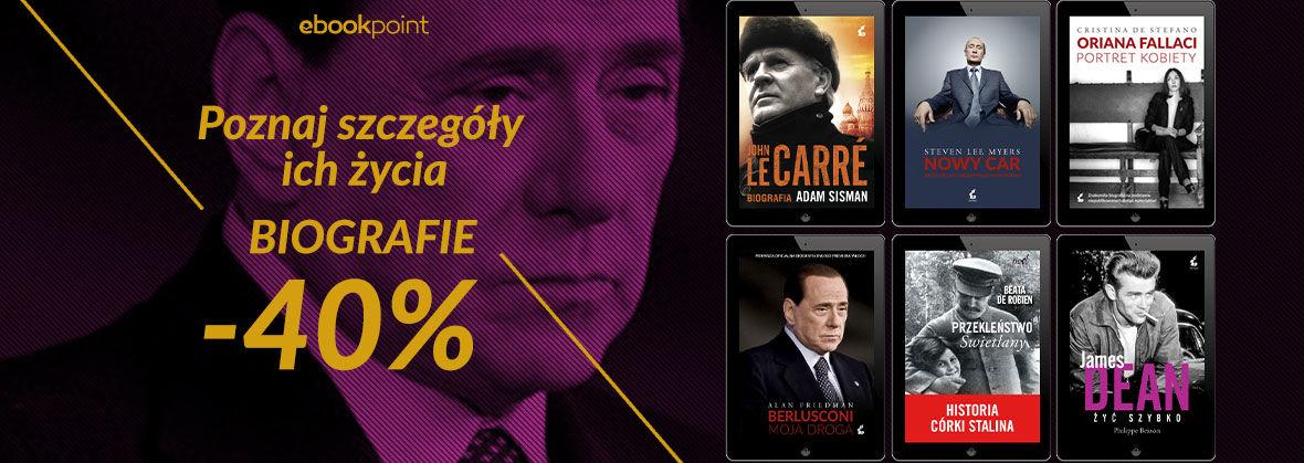 Promocja na ebooki Poznaj szczegóły ich życia / Biografie -40%