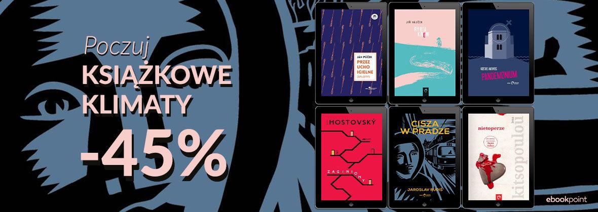 Promocja na ebooki Poczuj KSIĄŻKOWE KLIMATY [-45%]