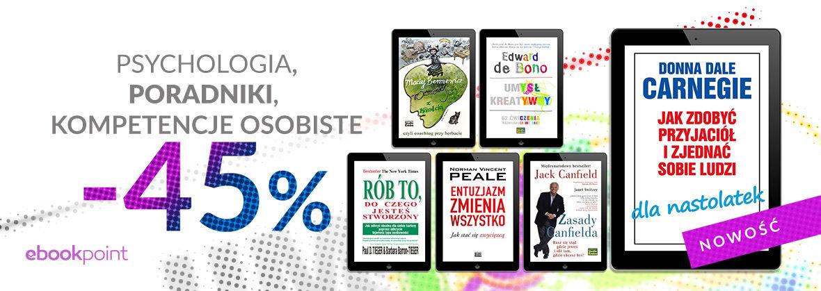 Promocja na ebooki Psychologia, poradniki, kompetencje osobiste / -45%