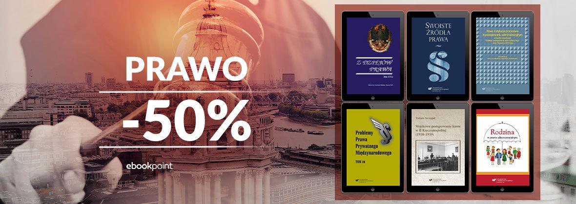 Promocja na ebooki PRAWO / -50%