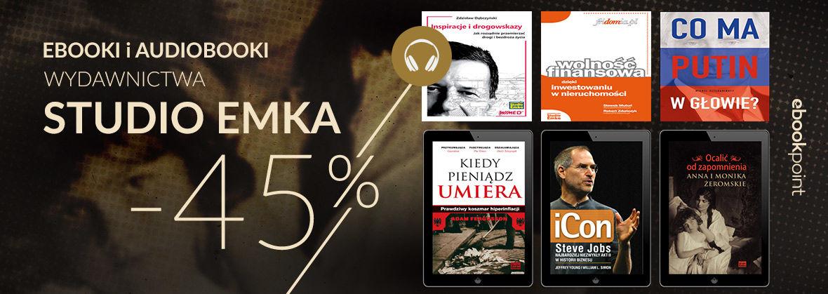 Promocja na ebooki STUDIO EMKA [Cała oferta -45%]