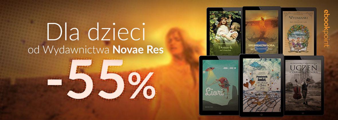 Promocja na ebooki Dla dzieci od Wydawnictwa Novae Res / -55%