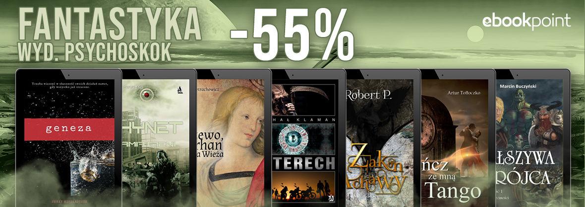 Promocja Promocja na ebooki Psychoskok [fantastyka -55%]