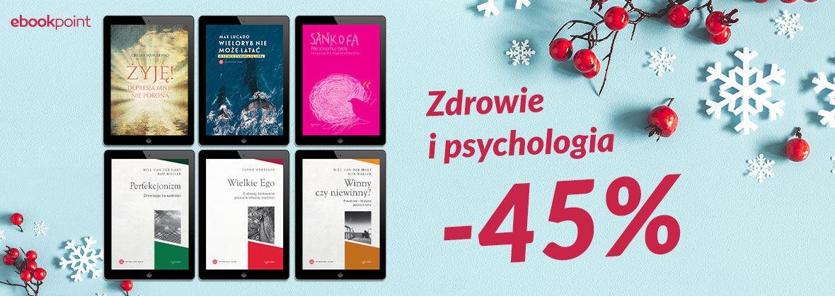 Promocja Promocja na ebooki Zdrowie i psychologia / -45%