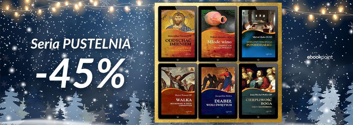 Promocja Promocja na ebooki Wydawnictwo W Drodze - Seria Pustelnia [-45%]