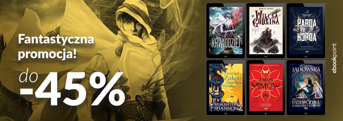 Promocja na ebooki Fantastyczna promocja! / do -45%