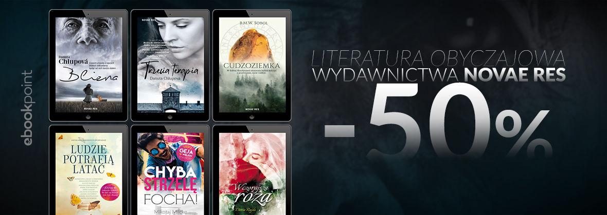 Promocja na ebooki Literatura obyczajowa Wydawnictwa Novae Res / -50%