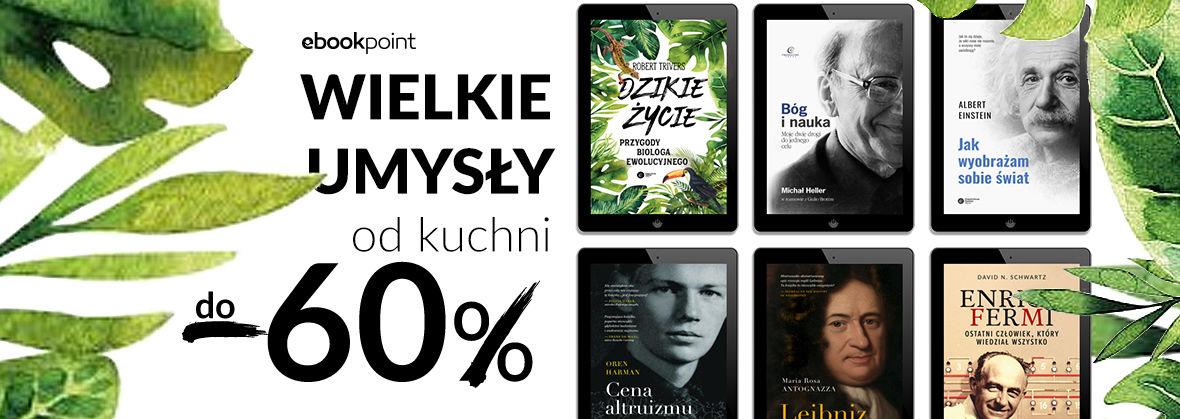 Promocja na ebooki Wielkie umysły od kuchni / do -60%
