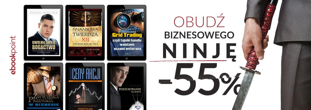 Promocja na ebooki Obudź biznesowego ninję [-55%]