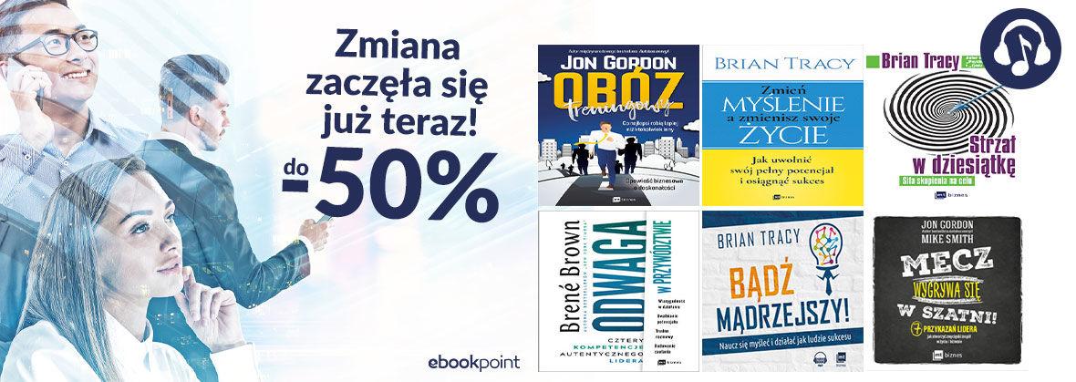Promocja na ebooki Zmiana zaczęła się już teraz! / do -50%