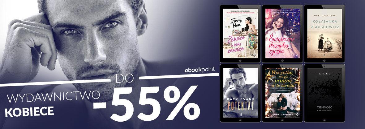 Promocja na ebooki Z książką kobiecie do twarzy! [wyd. kobiece do -55%]