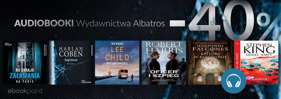 Promocja na ebooki Audiobooki Wydawnictwa ALBATROS [-40%]