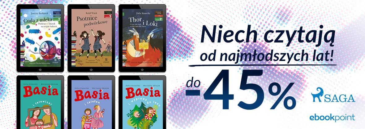 Promocja na ebooki Niech czytają od najmłodszych lat! / do -45%