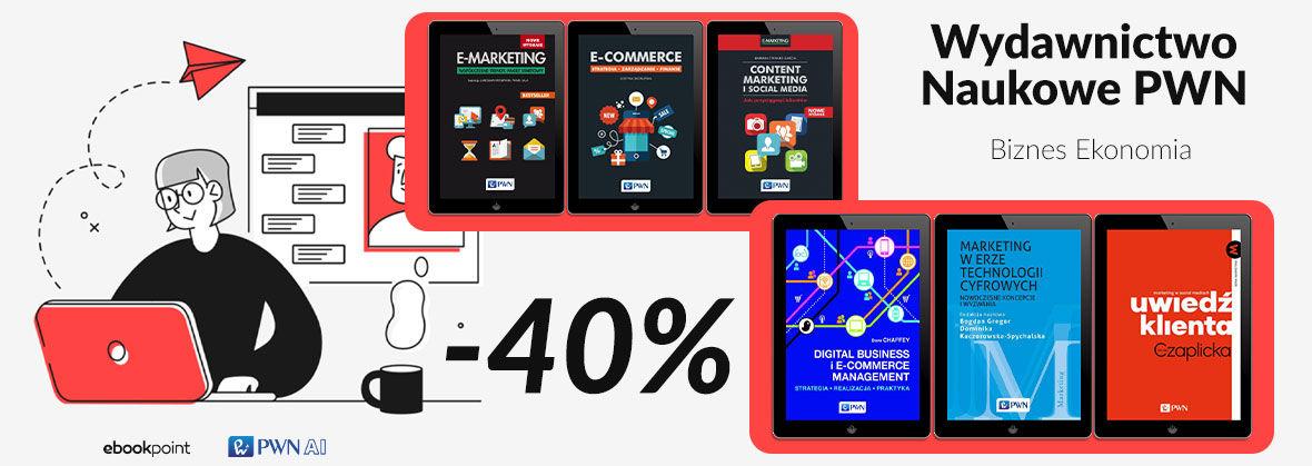 Promocja na ebooki [BIZNES I EKONOMIA] Wydawnictwo Naukowe PWN / -40%