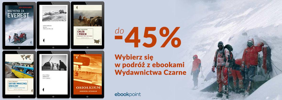 Promocja na ebooki Wydawnictwo Czarne [Podróżnicze] do -45%