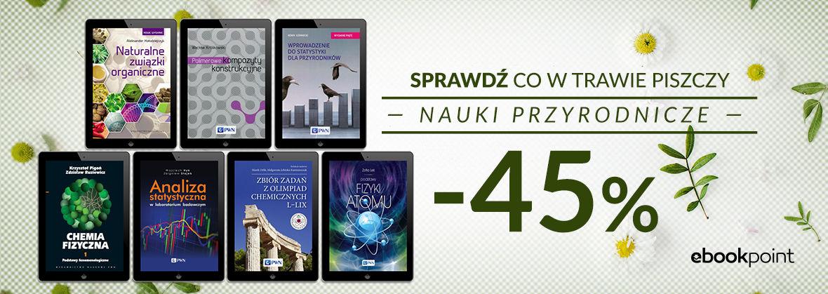 Promocja na ebooki Sprawdź, co w trawie piszczy / Nauki przyrodnicze -45%