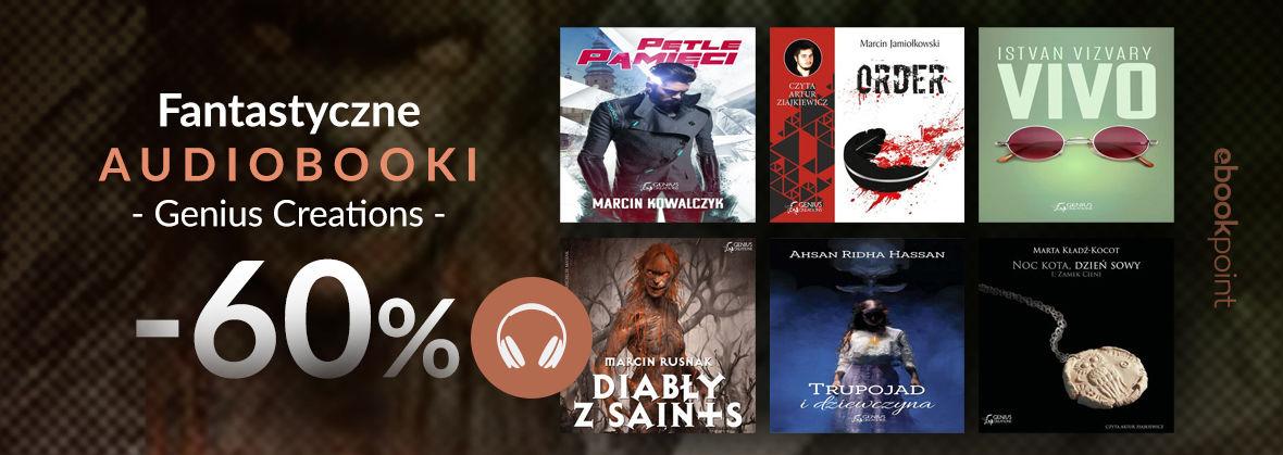 Promocja na ebooki Fantastyczne audiobooki Genius Creations [-60%]