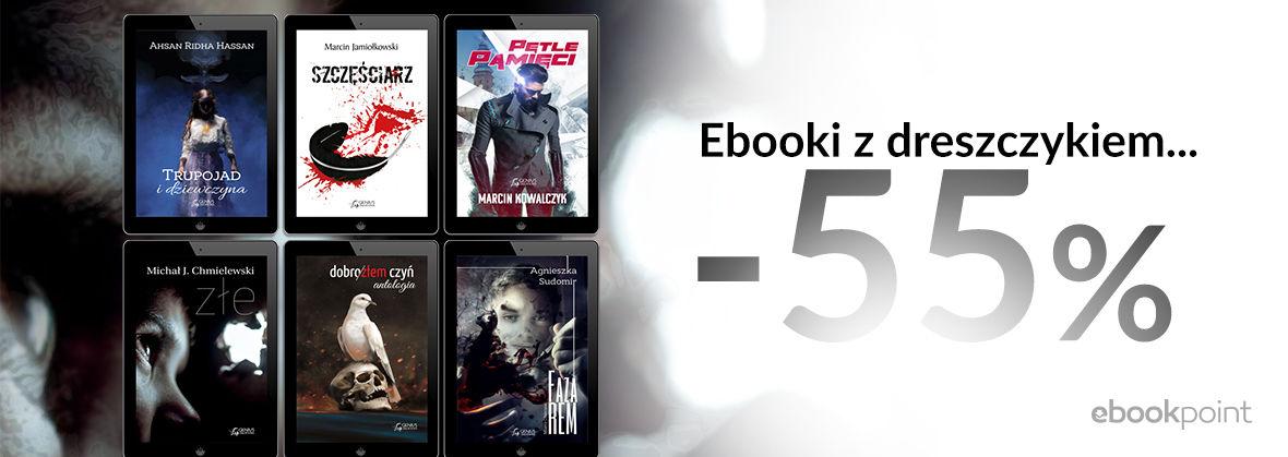 Promocja na ebooki Ebooki z dreszczykiem / Kryminały i thrillery wydawnictwa Genius Creations / -55%