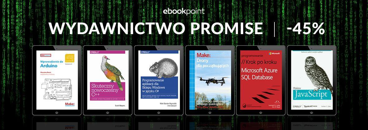 Promocja na ebooki WYDAWNICTWO PROMISE / -45%