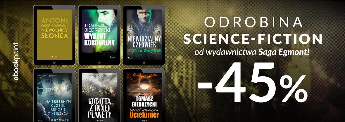 Promocja na ebooki Odrobina science-fiction od wydawnictwa Saga Egmont! [-45%]