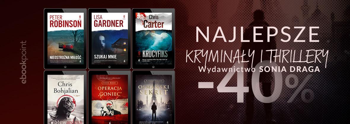 Promocja na ebooki Najlepsze kryminały i thrillery / Sonia Draga -40%