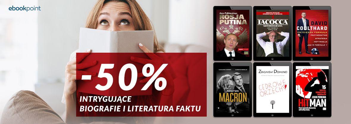 Promocja na ebooki Biografie i literatura faktu / Wydawnictwo Studio Emka [-50%]