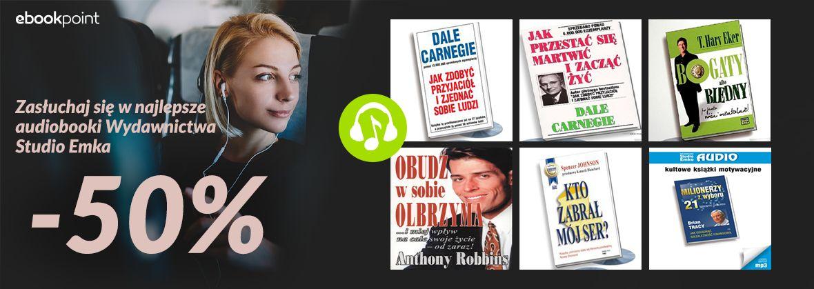 Promocja na ebooki Najlepsze audiobooki Wydawnictwa Studio Emka [-50%]
