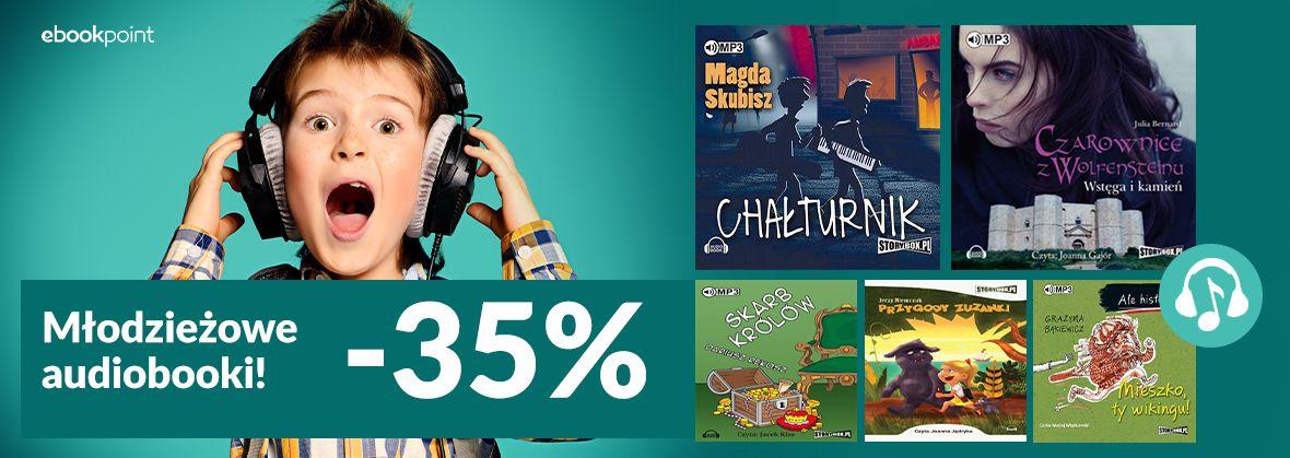 Promocja na ebooki Młodzieżowe audiobooki! [-35%]