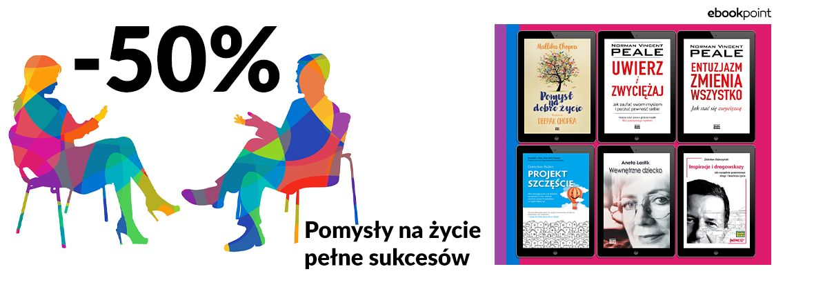 Promocja na ebooki Pomysły na życie pełne sukcesów. / -50%