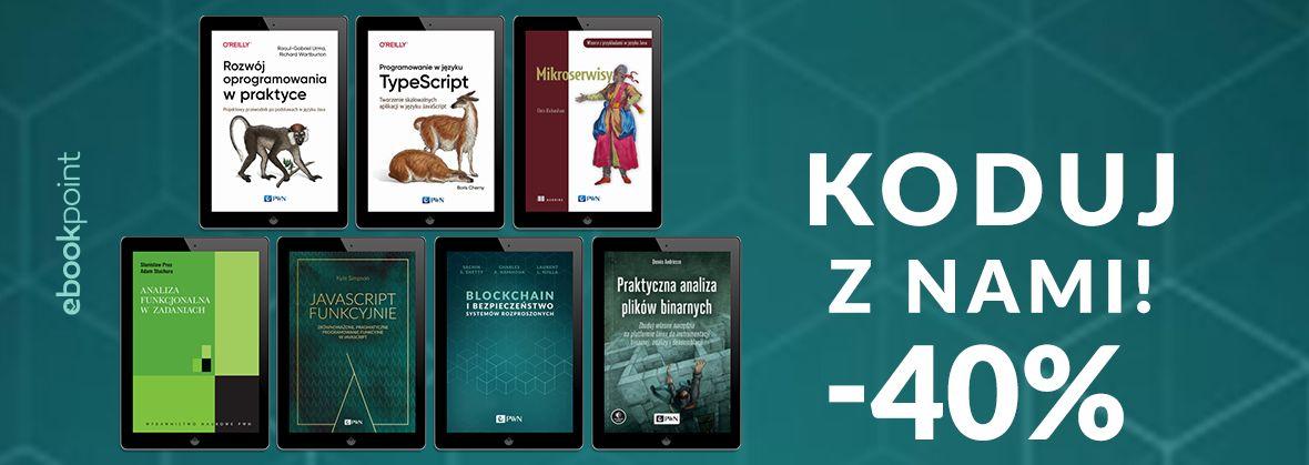 Promocja na ebooki KODUJ Z NAMI! [-40%]