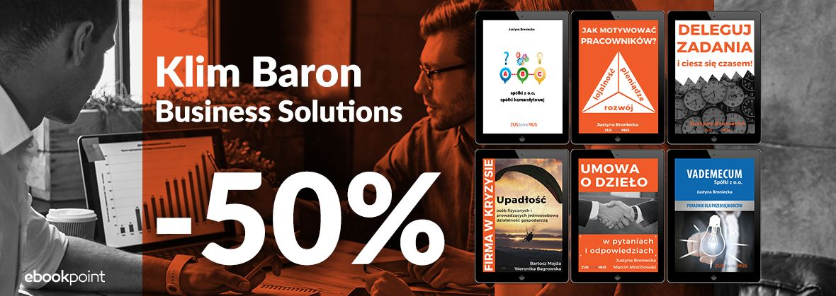 Promocja na ebooki Klim Baron Business Solutions [-50%]