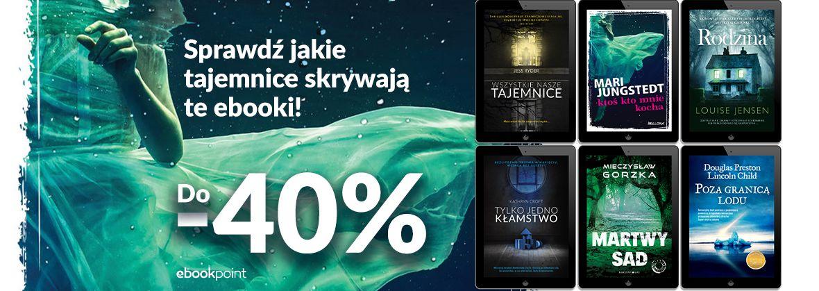 Promocja na ebooki Sensacja, kryminał, thriller [do -40%]