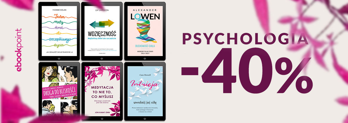 Promocja na ebooki PSYCHOLOGIA [-40%]
