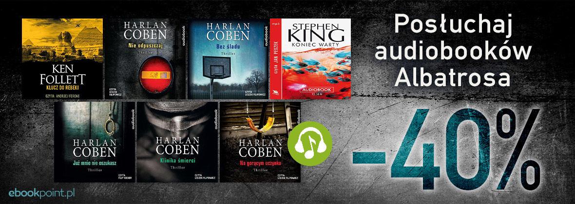 Promocja na ebooki Posłuchaj audiobooków ALBATROSA / -40%
