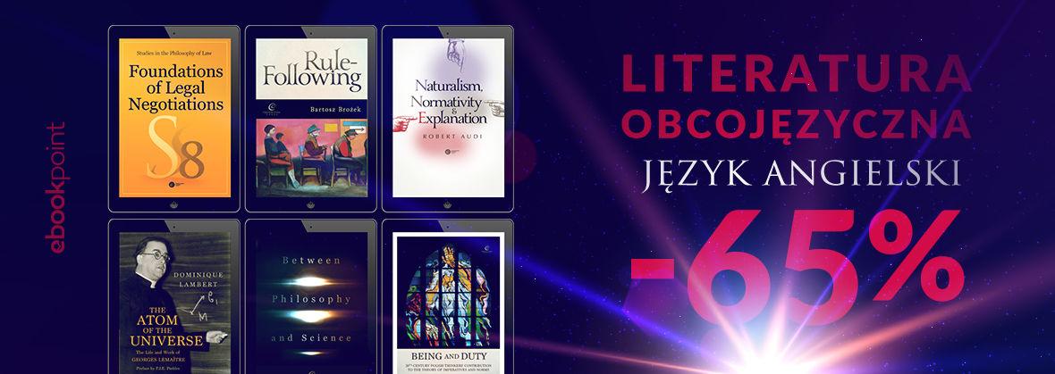 Promocja na ebooki Literatura obcojęzyczna / Copernicus Center Press / -65%!