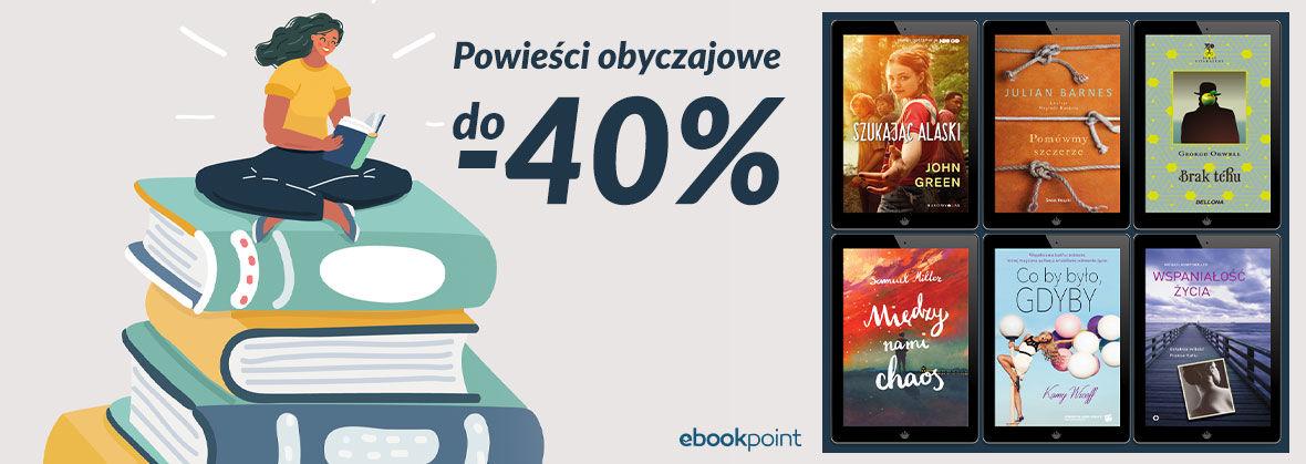 Promocja na ebooki Literatura obyczajowa [do -40%]