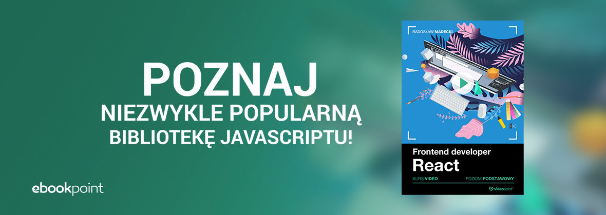 Promocja na ebooki Poznaj niezwykle popularną bibliotekę JavaScriptu!