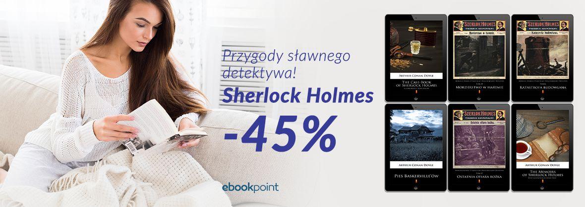 Promocja na ebooki Sherlock Holmes [-45%]