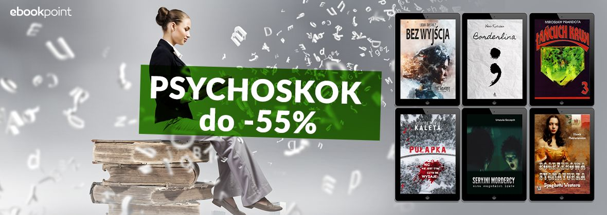 Promocja na ebooki PSYCHOSKOK [do -55%]